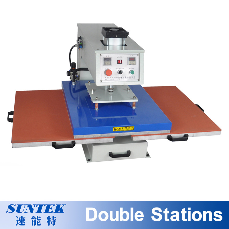 Pneumatic Double Stations T-Shirt Sublimation Heat Press Transfer Printing Machine