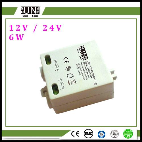 12V 500mA Square 6W LED Driver, DC Power Supply, 12V LED Transformer, LED Strips Power, 12V LED Strips, 5W LED Power Supply