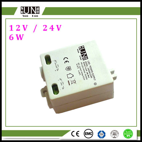 6W 12V 500mA AC/DC Adapter Square Power Supply LED DC Power Supply