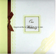 Wedding Paper Scrapbook Album with Frame and Glitter