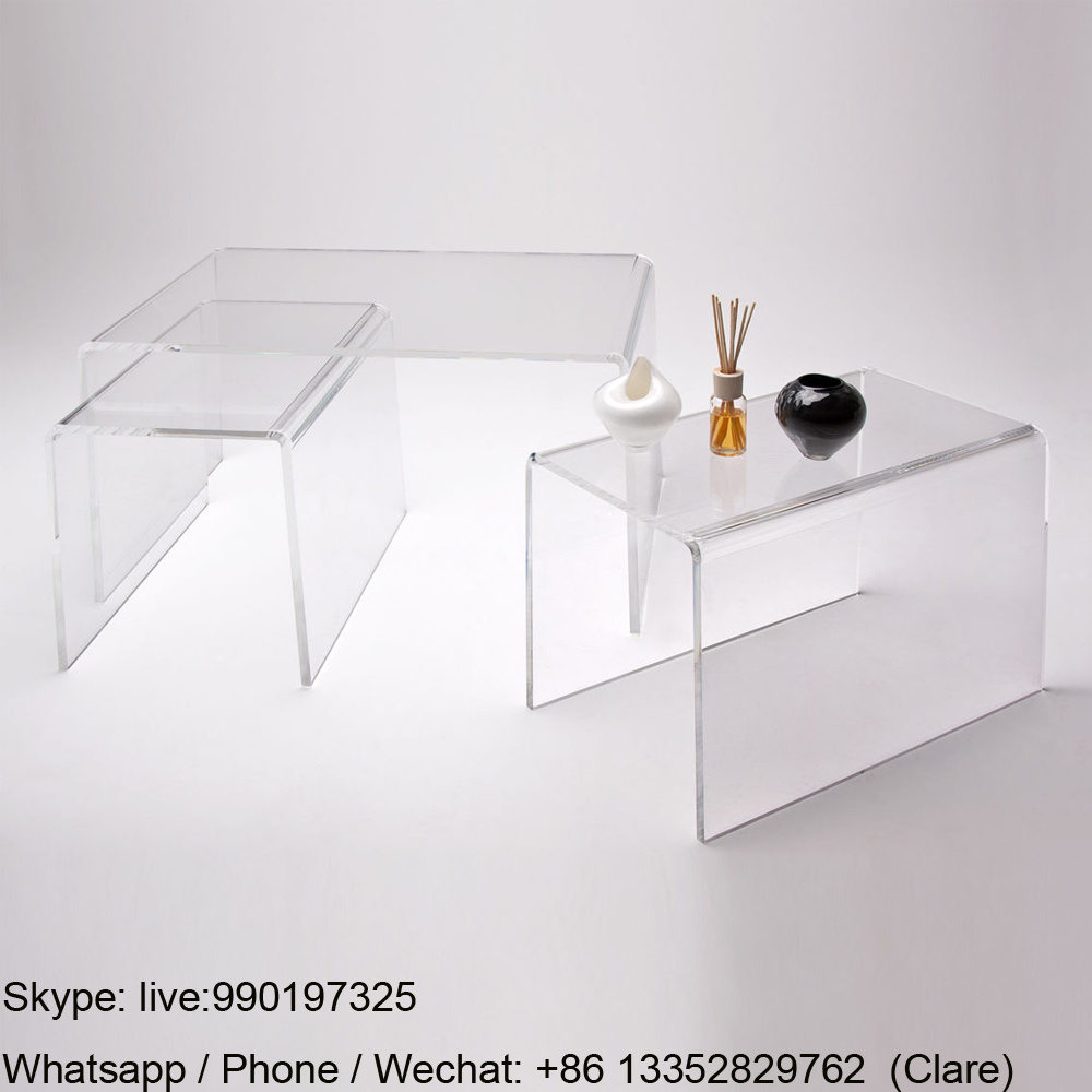 Single Clear Acrylic Lucite Coffee Table