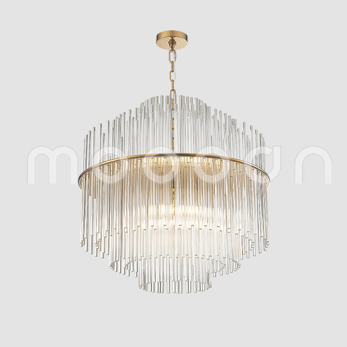Modern Large Hand Blown Glass Chandelier with G9 LED Bulbs