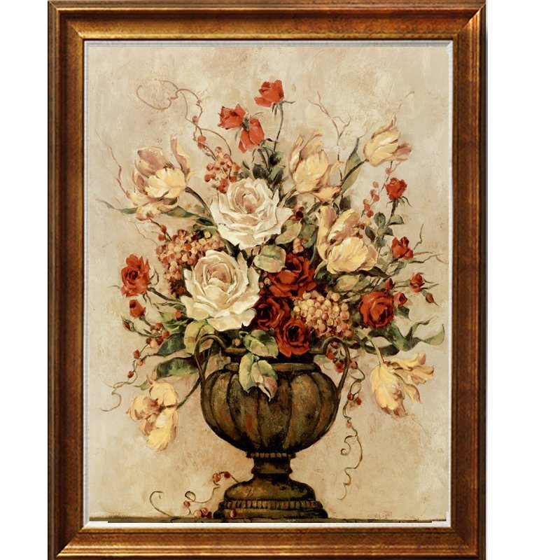 The Newest Design Decoration Flower Oil Paintings Handmade Artworks Hot Sale