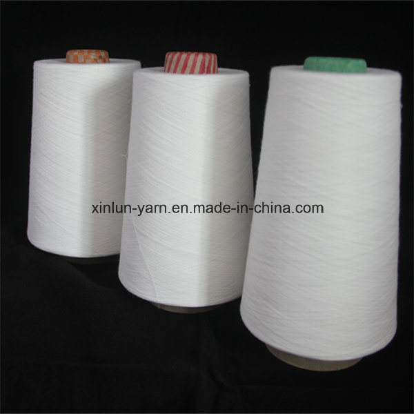 32s Virgin 100% Polyester Spun Knitting Yarn for Fabric