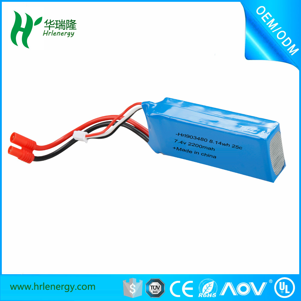 903048 2200mAh 7.4V High RC Polymer Battery for RC Model