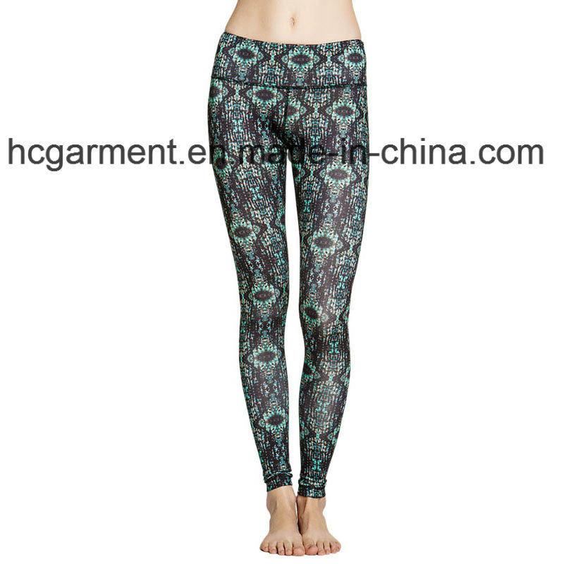 Workout Clothes for Woman, Gym Leggings, Printing Capri Pants