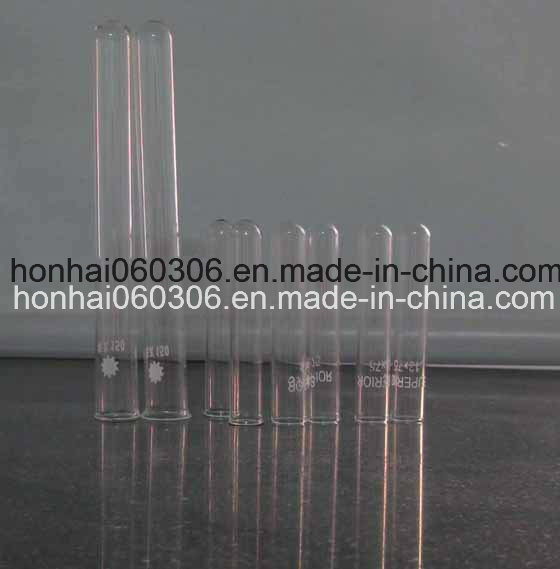 Clear Borosilicate Glass Plain Neck and Round Bottom Test Tube