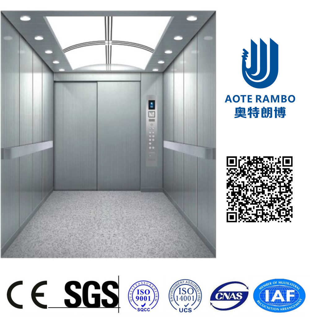 400kg-2000kg Gearless Traction Sterilization Hospital Bed Elevator with Machine Room (F02)