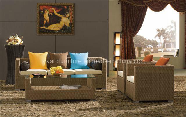 Sofa ext rieur patio jardin furniture rattan wicker r gl for Meuble en rotin exterieur