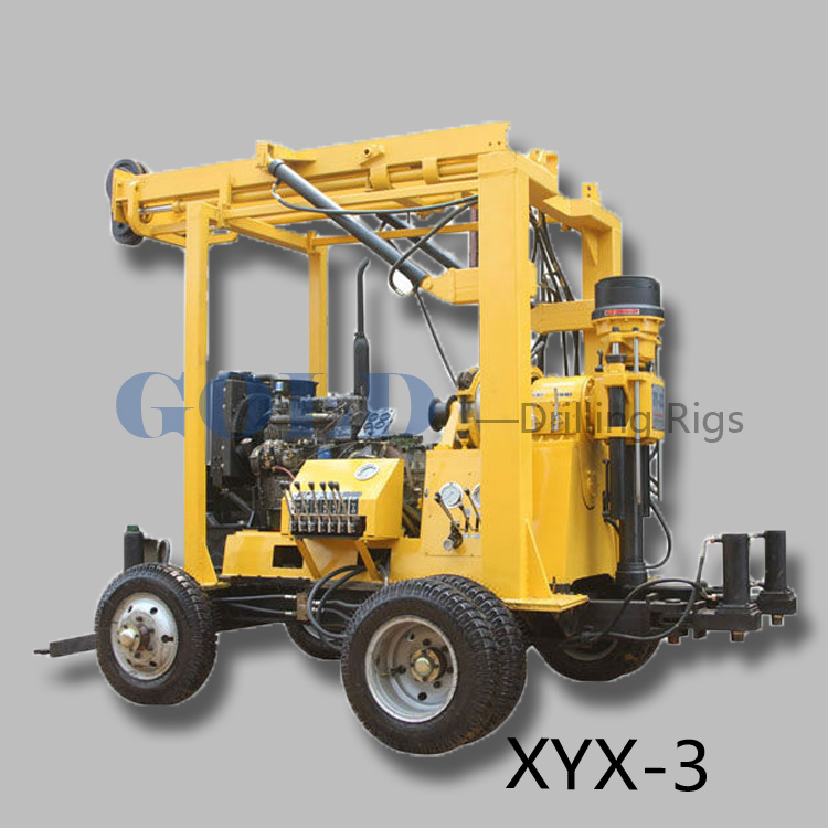 Desel Engine Environmental Drilling Water Well Drilling Rig XYX-3