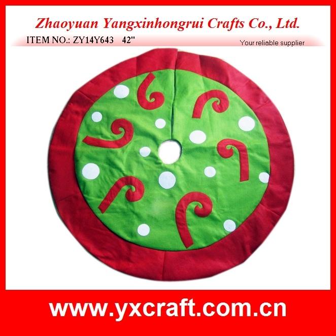 Christmas Decoration (ZY14Y640 42′′) Christmas Tree Skirt Decoration Custom Skirt