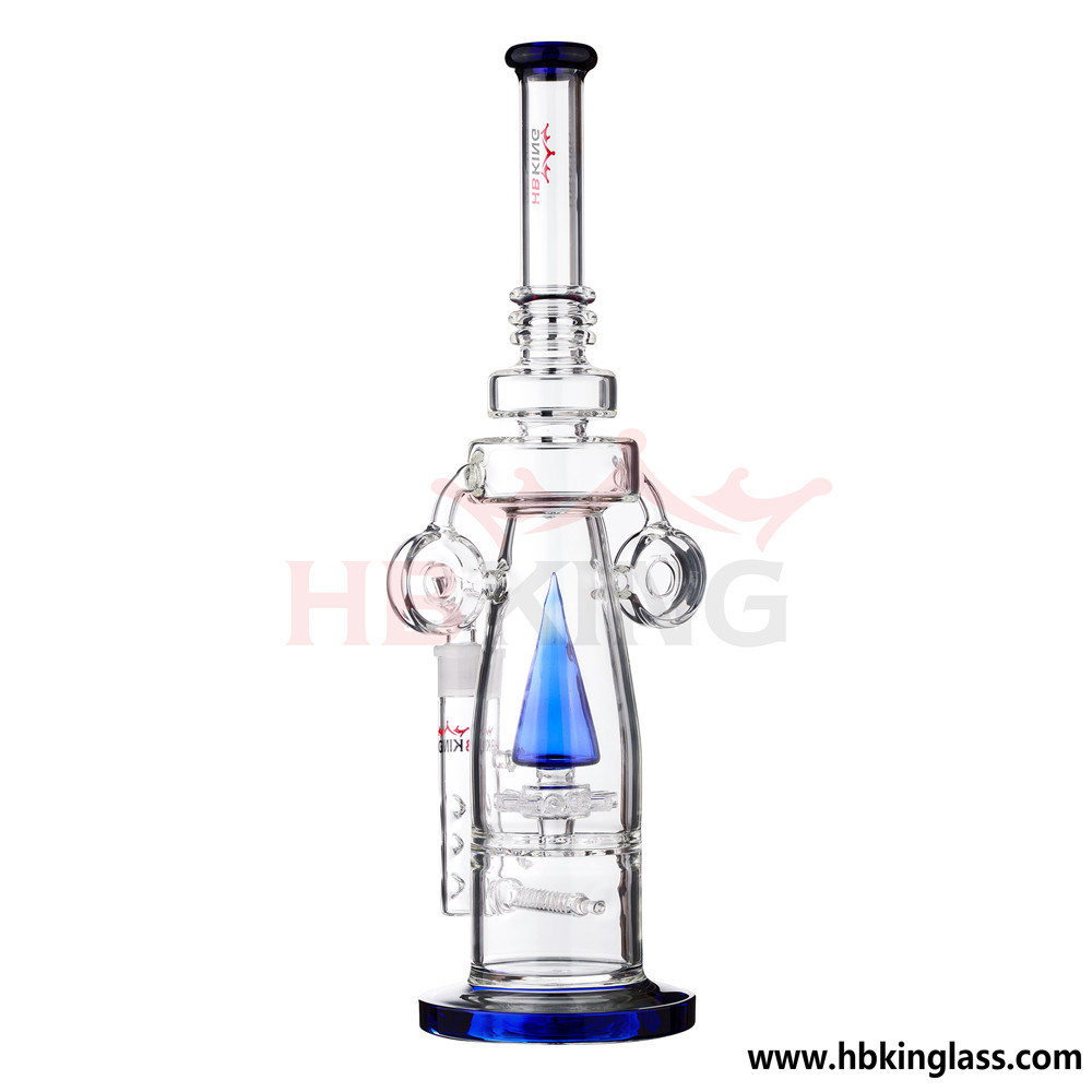 Hbking Female Joint Colorful Functionsilika Glass Smoking Pipe