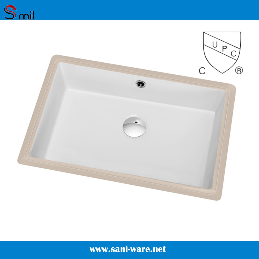 USA Canada Hot Selling Cupc Undermount Ceramic Bathroom Basins (SN019)