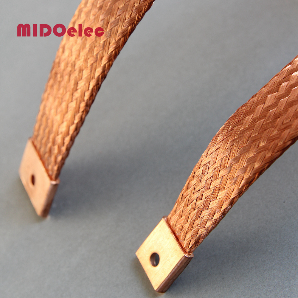 Copper Flexible Flat Braided Electric Connector
