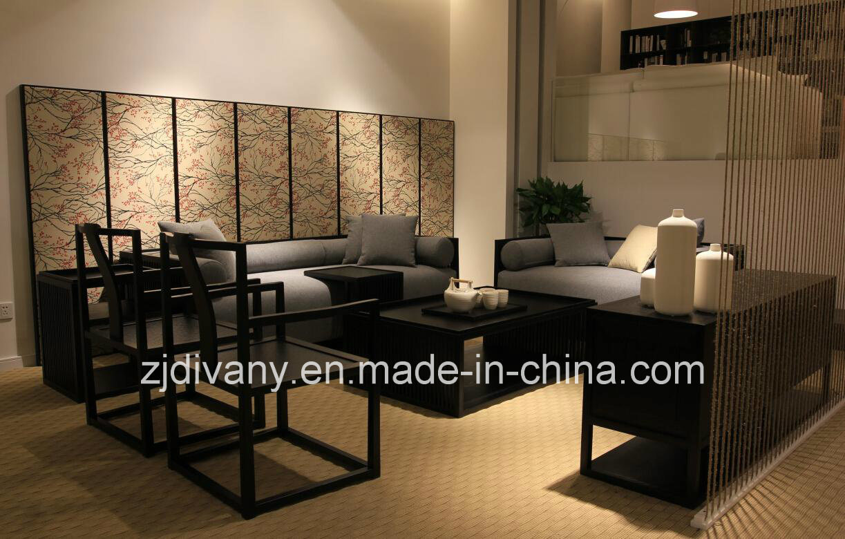 Chinese Style Wood Sofa Living Room Furniture