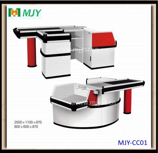 Supermarket Checkout Counter with Conveyor Belt Mjy-Cc09
