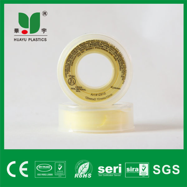 High Quality Teflon Tape Yellow 100% PTFE Thread Seal Tape