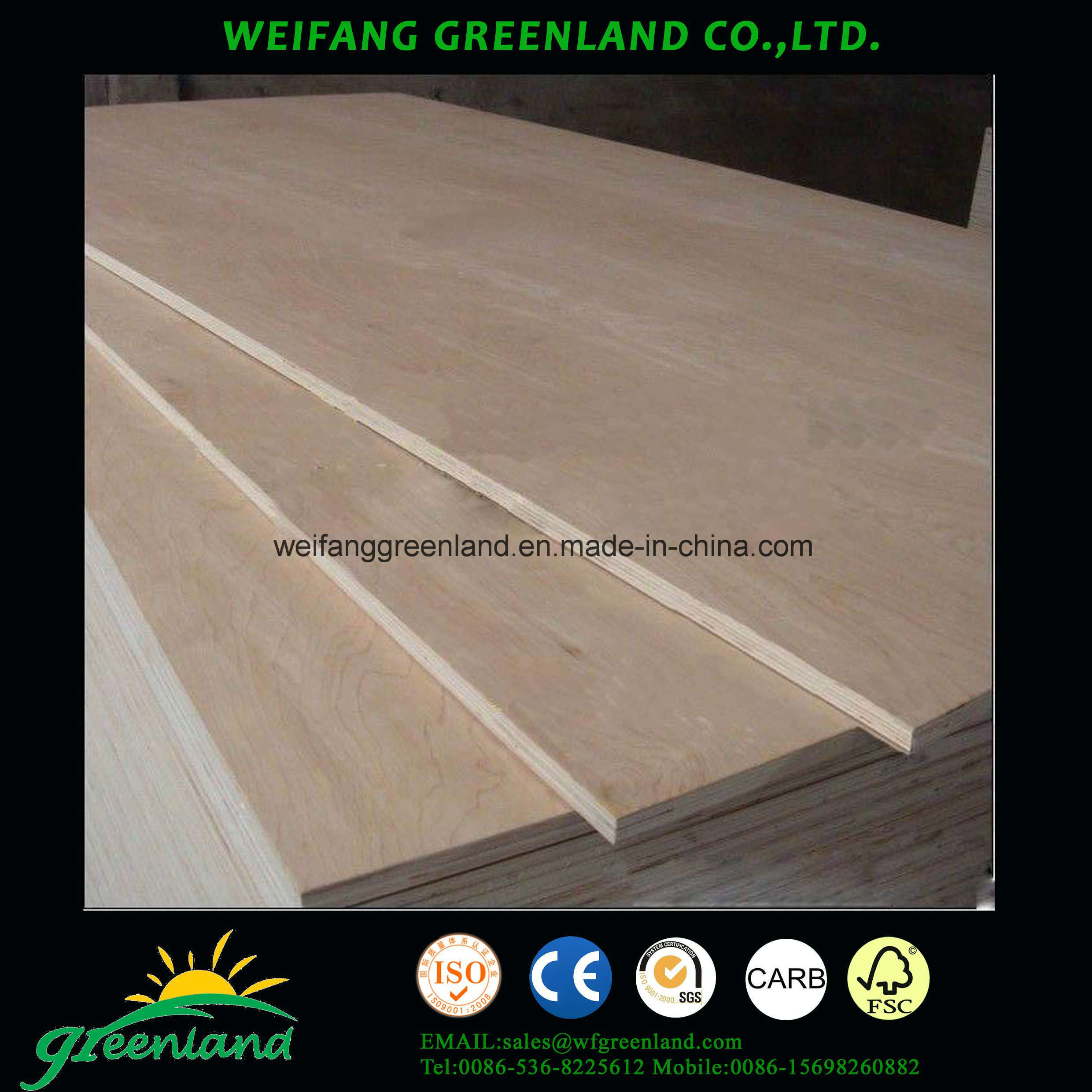Hardwood Core Plywood for Furniture, Construction, Packing