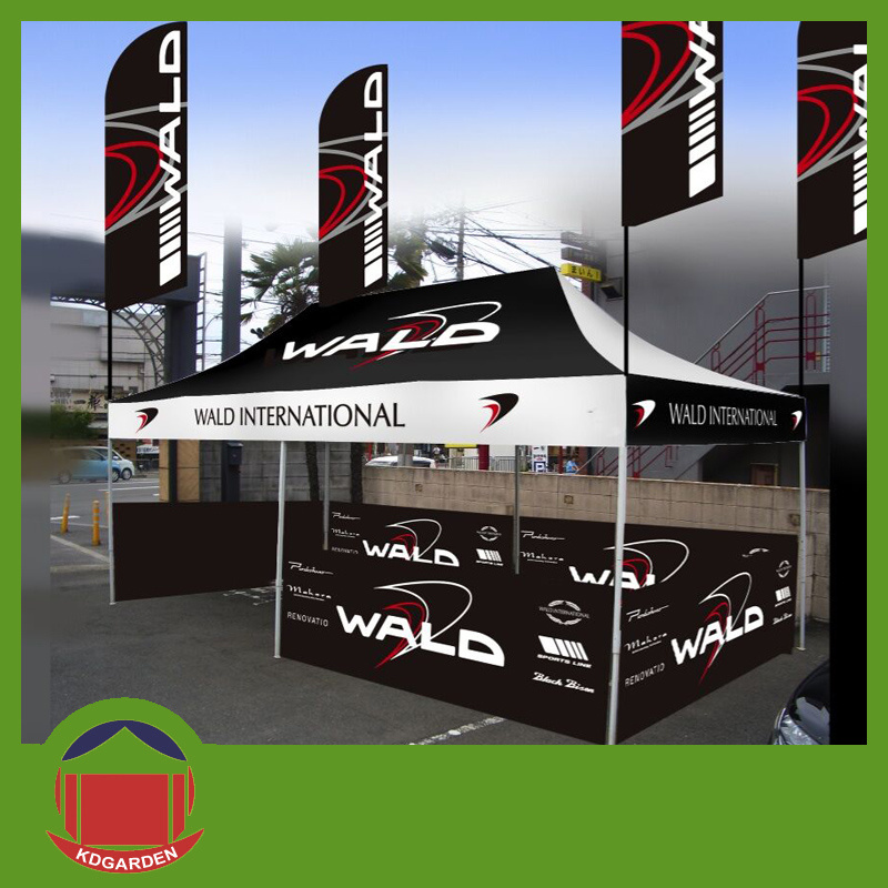 Outdoor Exhibition Cheap Custom Printed Canopy Tent with Advertising Flag