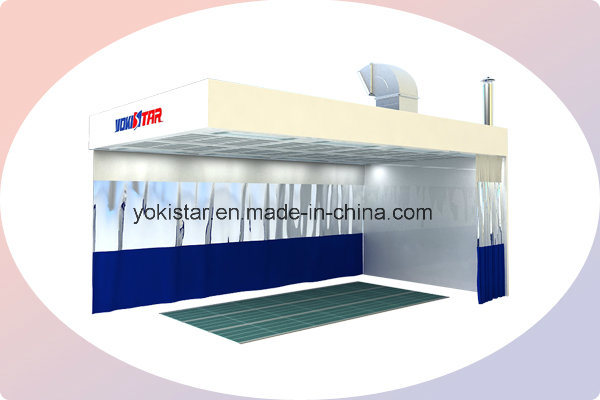 Auto Paint Preparation Room Is Provided for Professional Repair Work