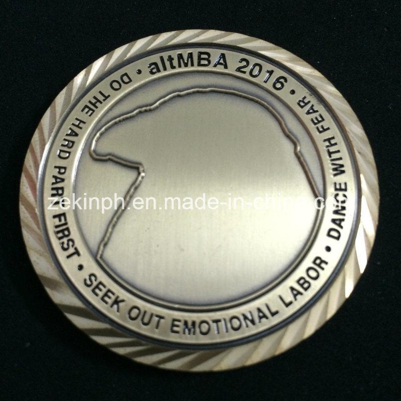 Customized Challenge Coins with Diamond Edge Design
