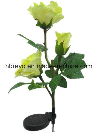 3LED Solar Garden Rose Flower Light (RS126)