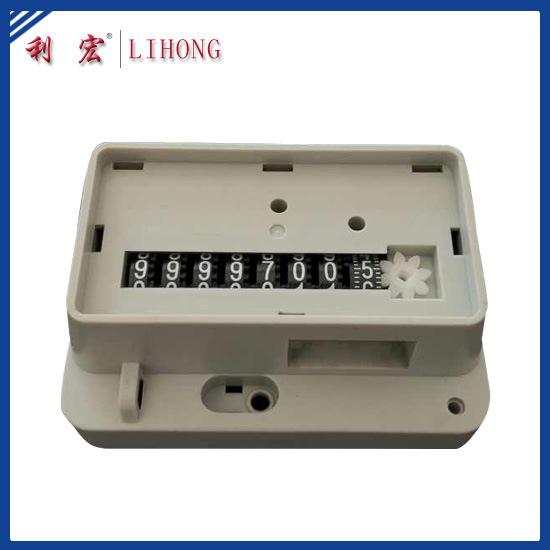 8 Black Wheels Gas Meter Counter, Gas Meter Parts (LH-G30)
