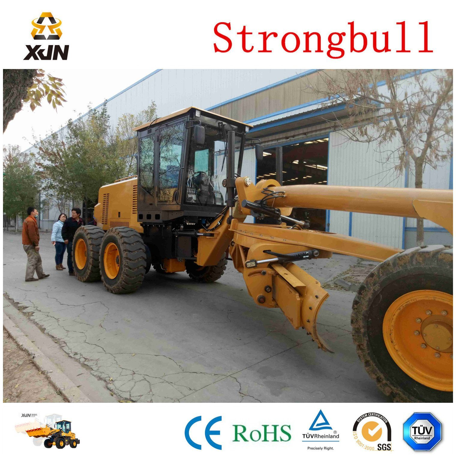 Gr180 Brand 180HP Motor Grader with Front Dozer and Rear Ripper Gr180