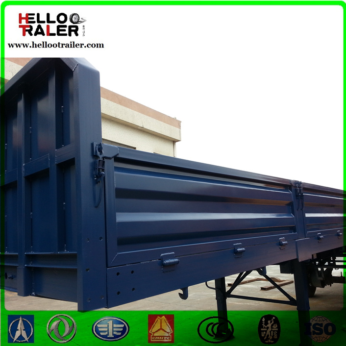 China Supplier Wall Side Cargo Truck Trailer, 3 Axle Cargo Trailer for Africa