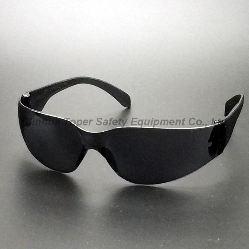 ANSI Z87.1 Black Lens and Black Frame Plastic Sunglasses (SG103)