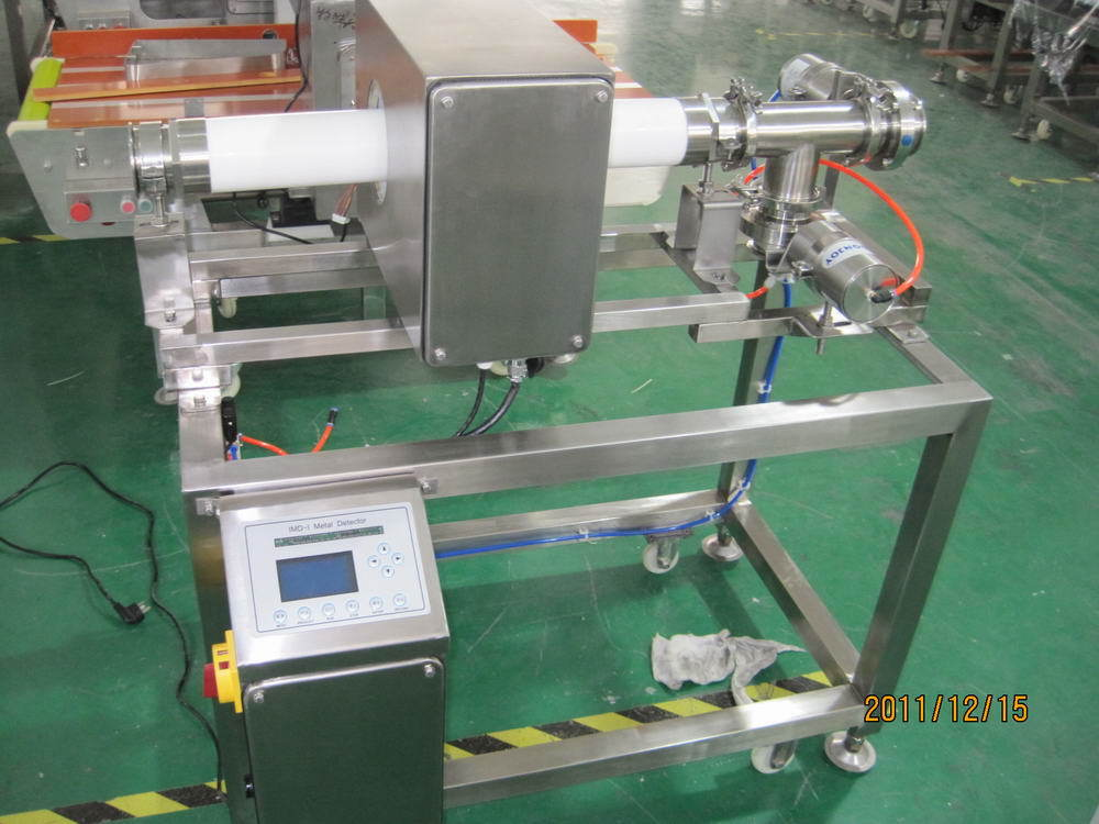 Pipe Metal Detector for Milk, Sauce, Jam, Pasta or Liquid Product Inspection