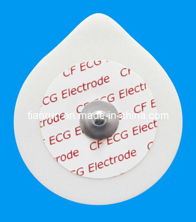 Disposable ECG Monitoring Electrode, PE Foam Backing, 43*49mm