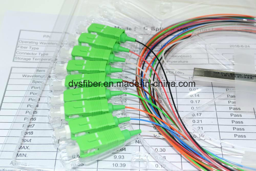 1X2/1X4/1X8/1X16/1X32/1X64 Fiber Optic PLC Splitter