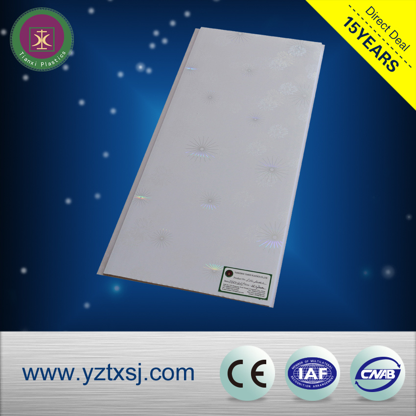 Two Designs in One PVC Ceiling Tiles with One Groove