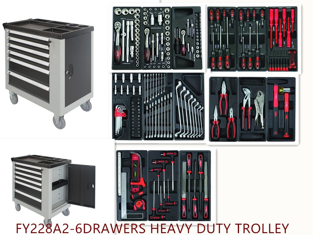 6drawers Professional Trolley Tool Set