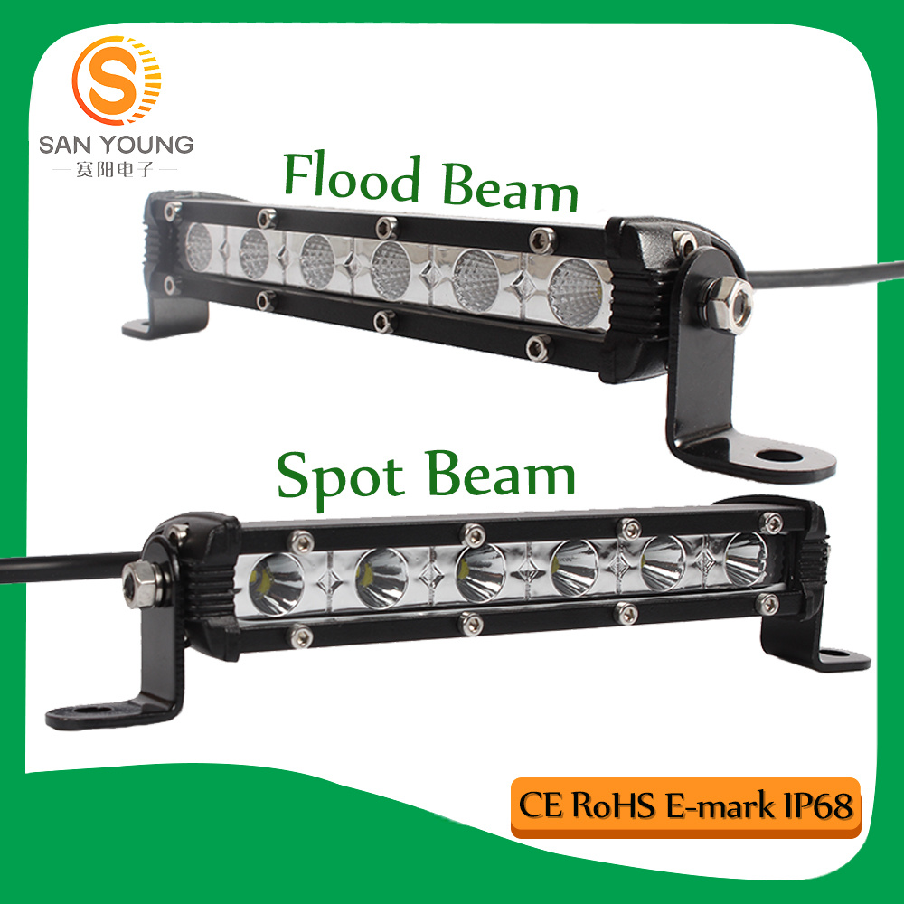 Slim LED Light Bar for Cars LED Light Bar Driving Work Lamp for SUV Truck ATV Car Tuning 4WD Jeep