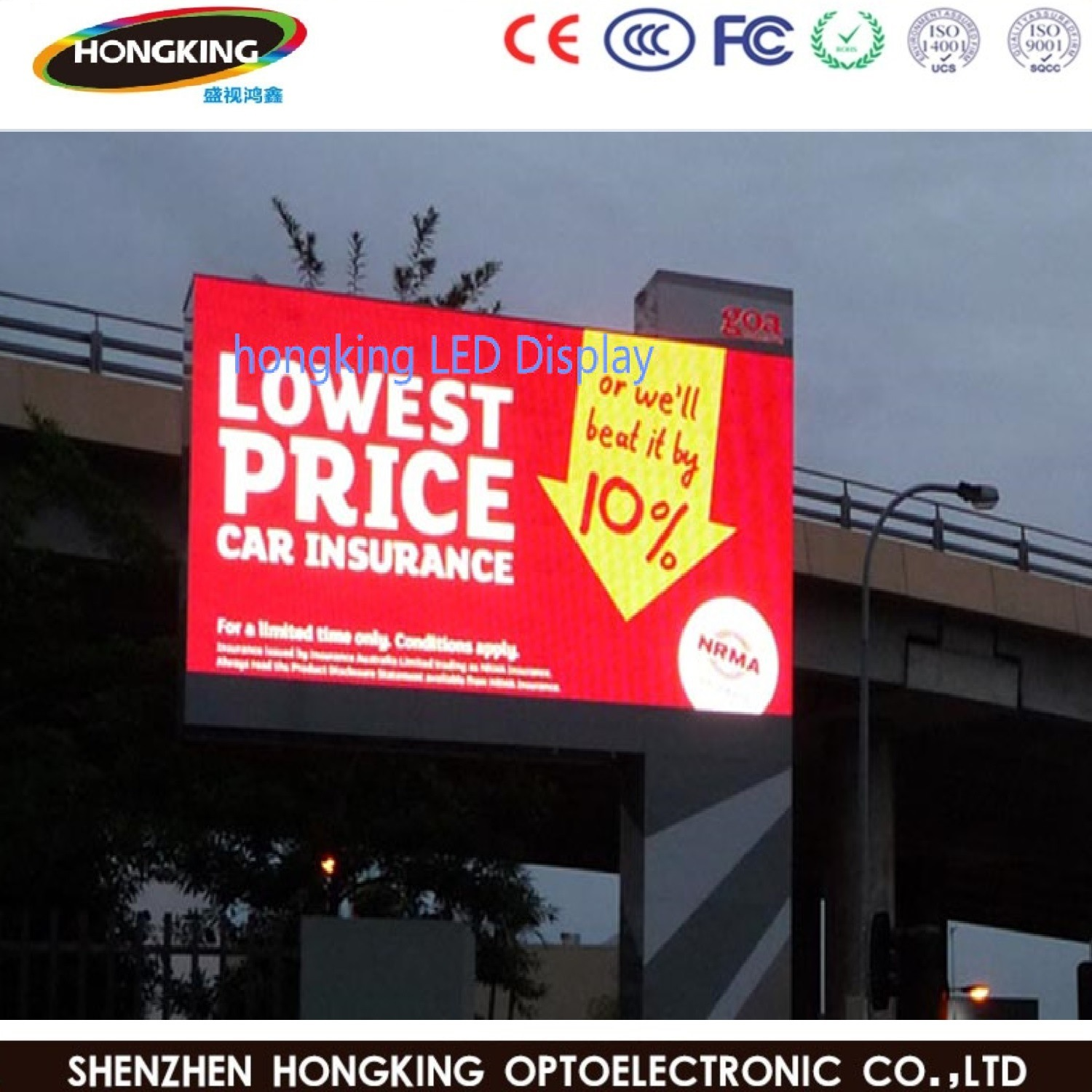 Shenzhen Factory Full Color P6 Outdoor LED Display Screen for LED Board