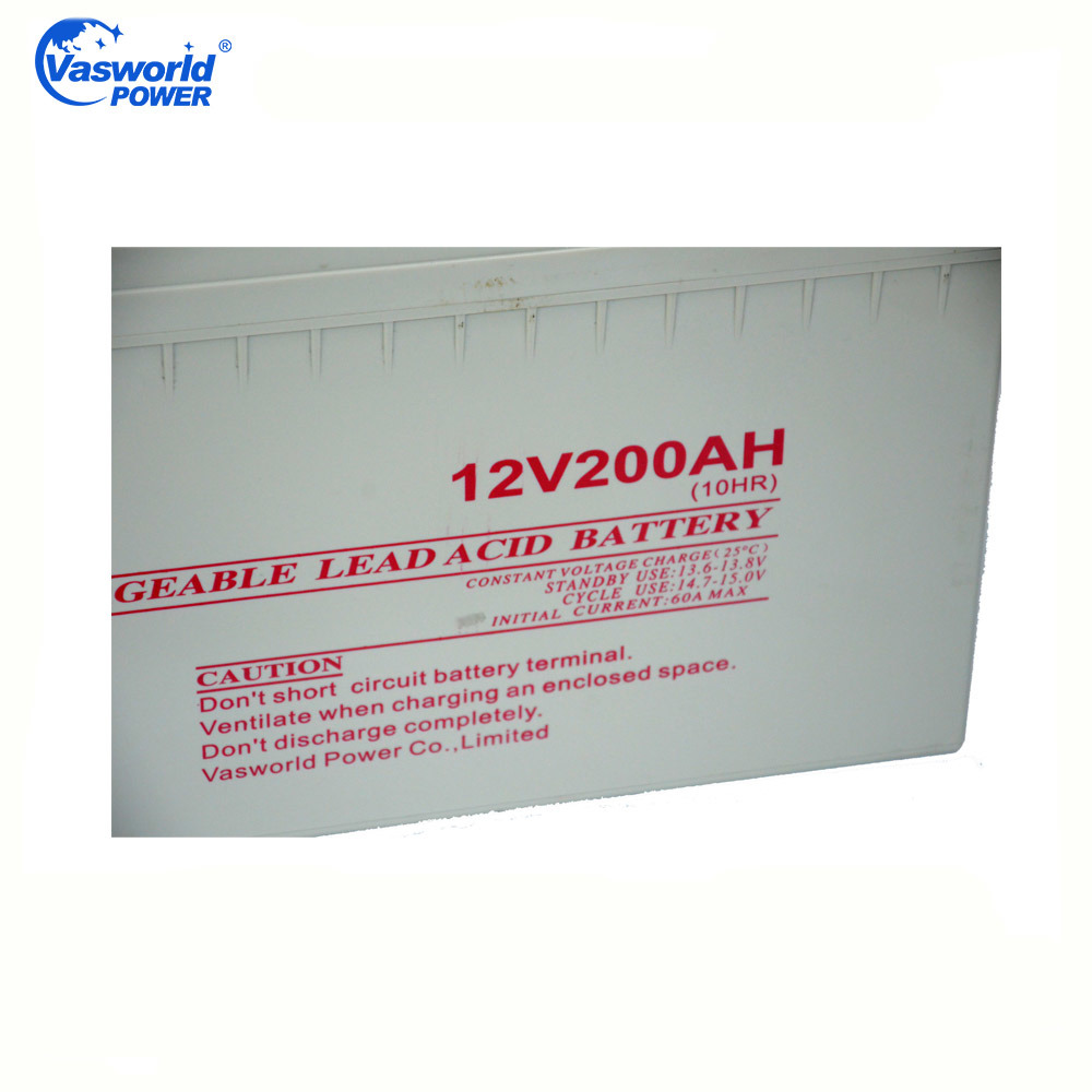 12V200ah Lead Acid Deep Cycle AGM Rechargeable Solar Battery