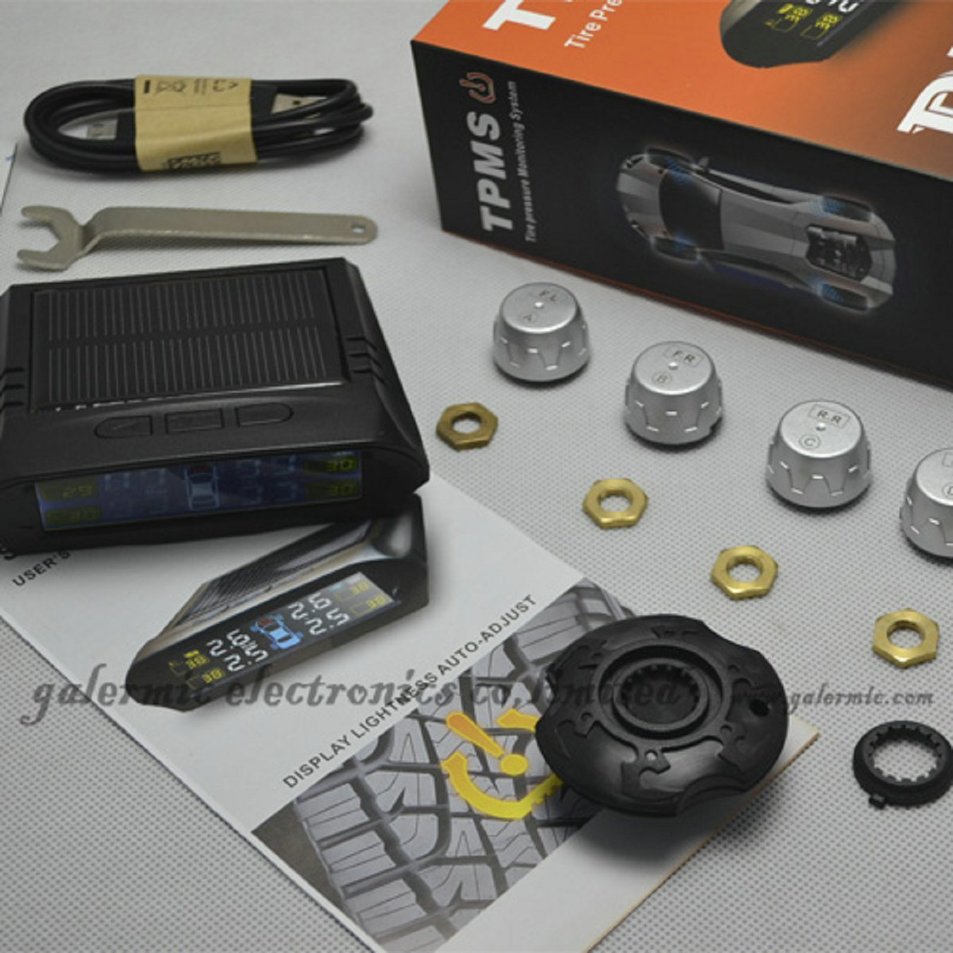 Solar Energy Tire Pressure Monitoring System for Car