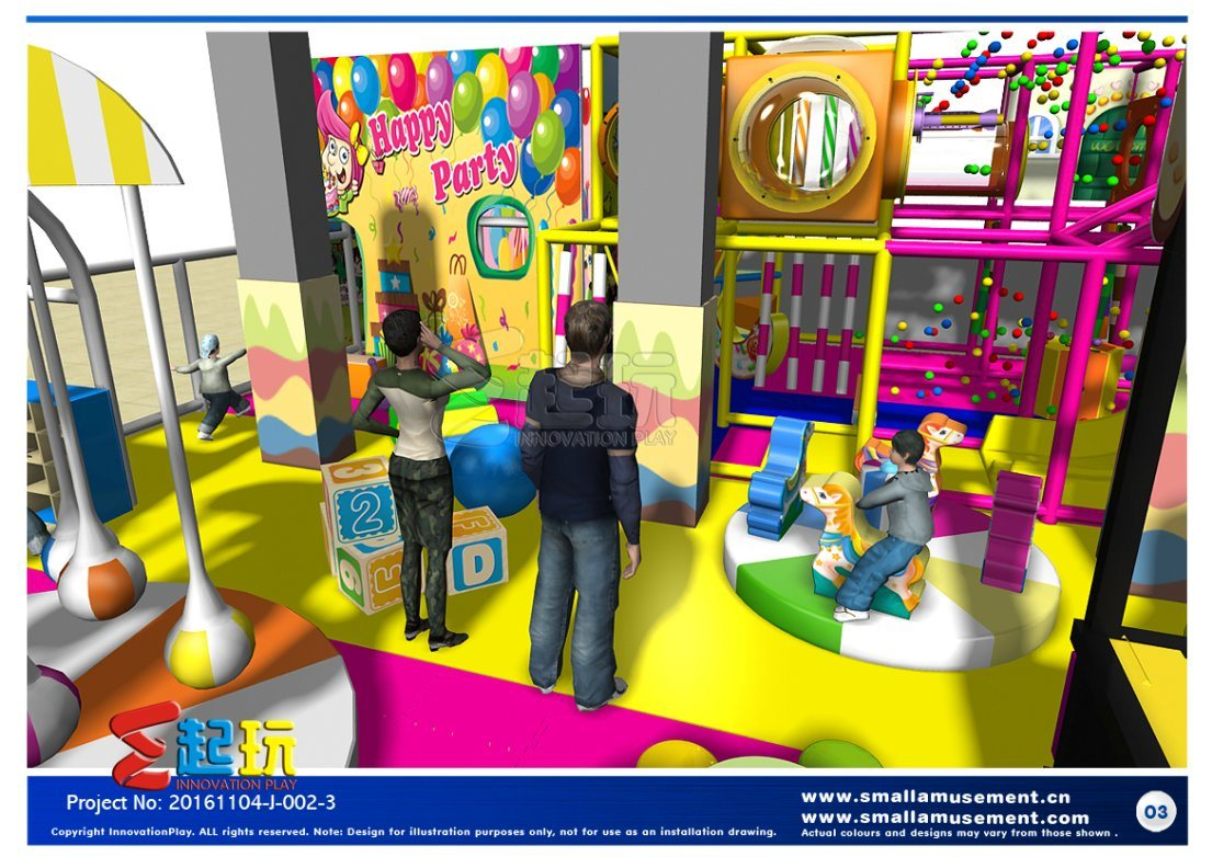 Happy Party Themed Indoor Playground