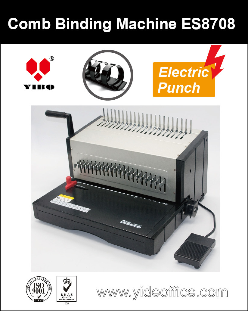 A4 Size Base Heavy Duty Electric Punch Comb Binder Es8708