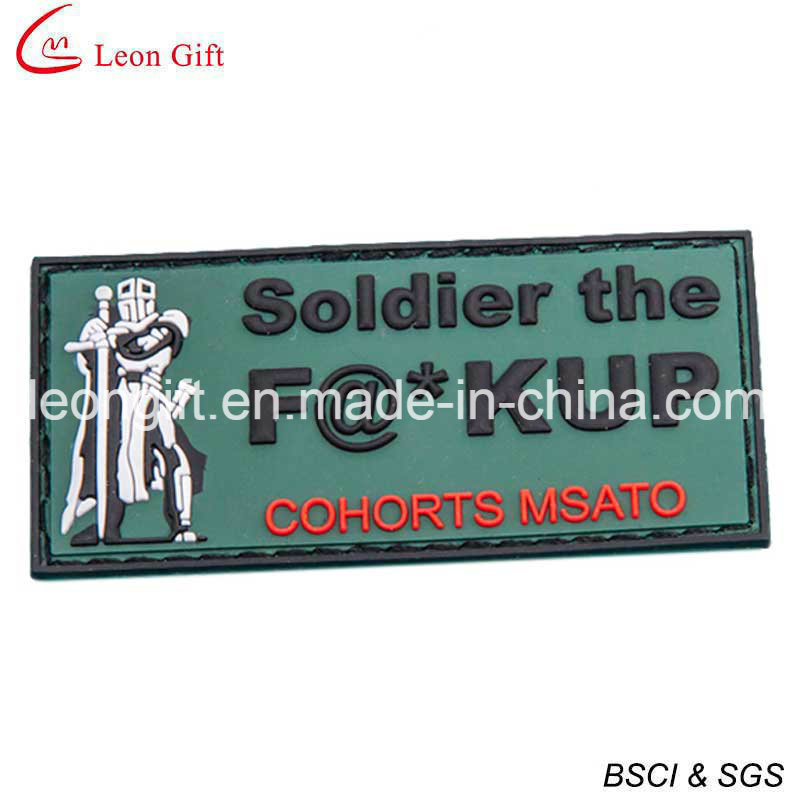 Cheap Custom PVC Patches 3D PVC Patches with Velcro Backing