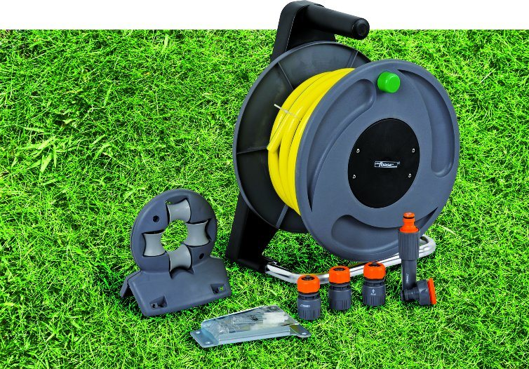 High Quality Dural Purpose 2 in 1 Garden Water Hose Reel Set