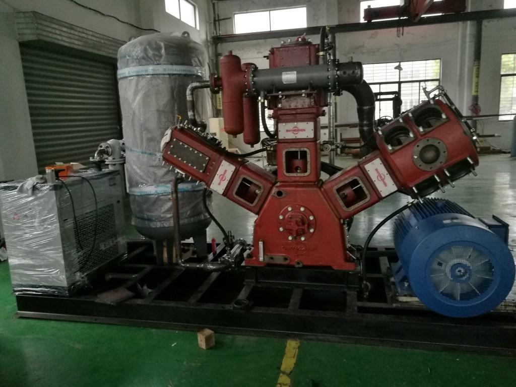 (SZW-8/40) 8m3/Min 30bar 35bar 40bar 42bar Oil-Free Air-Cooling Air Compressor Pet Bottle-Blowing Dedicated Compressor Medium Pressure Compressor