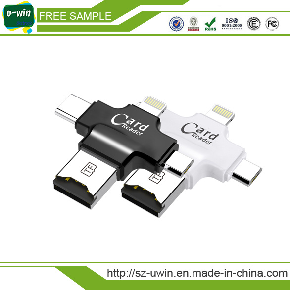 4 in 1 Smart Magnetic TF Card Reader for Android