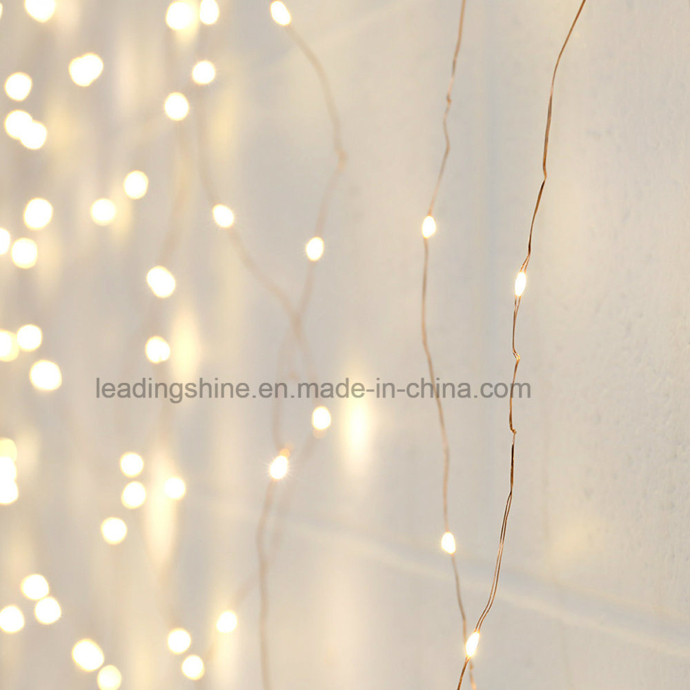 2m X 2m Copper Curtain Wire String Light Home Decorations
