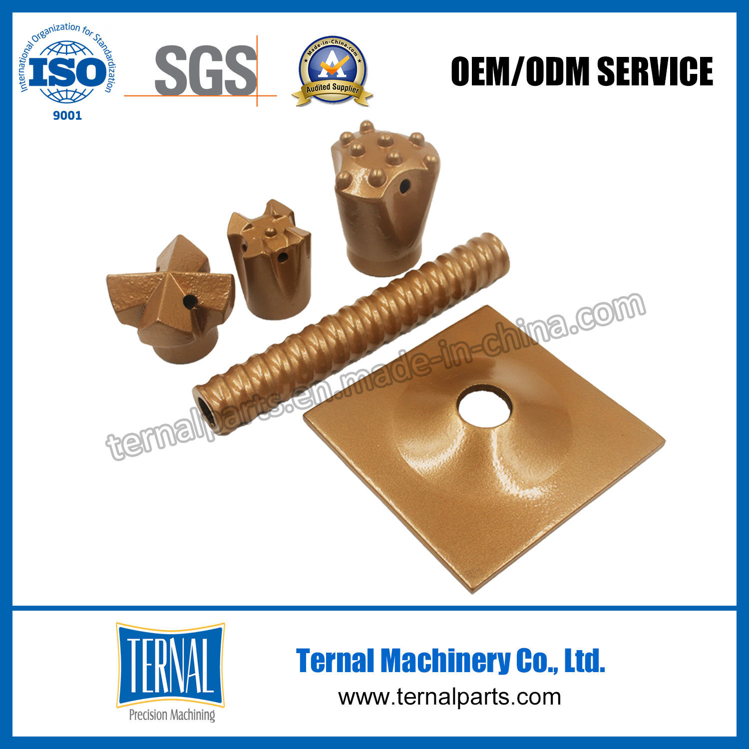 Tunneling Support Self-Drilling Hollow Grouting Rock Bolt