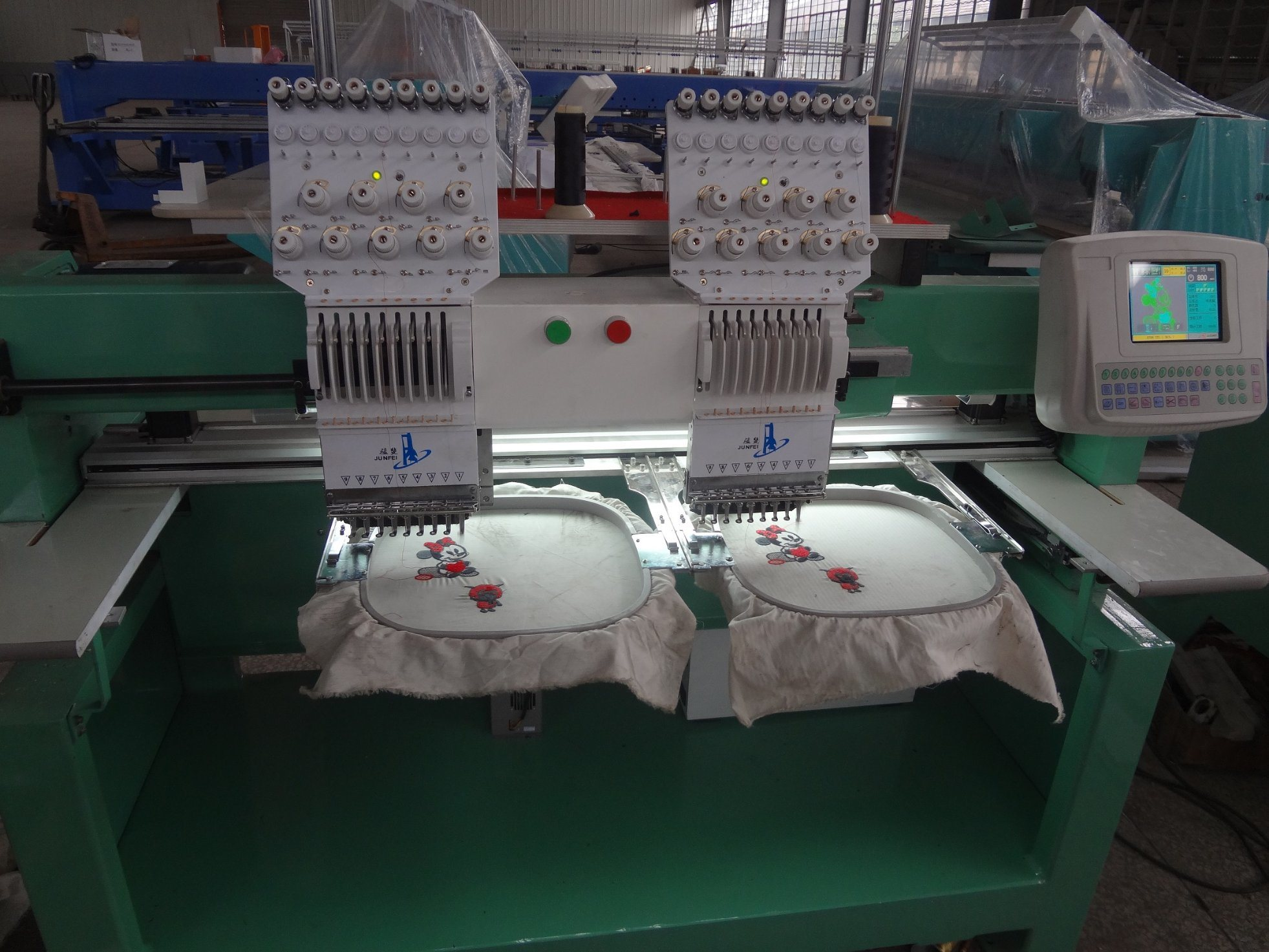 2 Heads Tubular Embroidery Machine