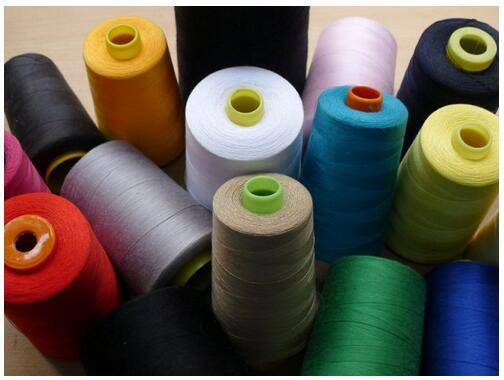 Ne 20/4 3000 Meters Per Cone White 100% Spun Polyester Sewing Thread Yarn