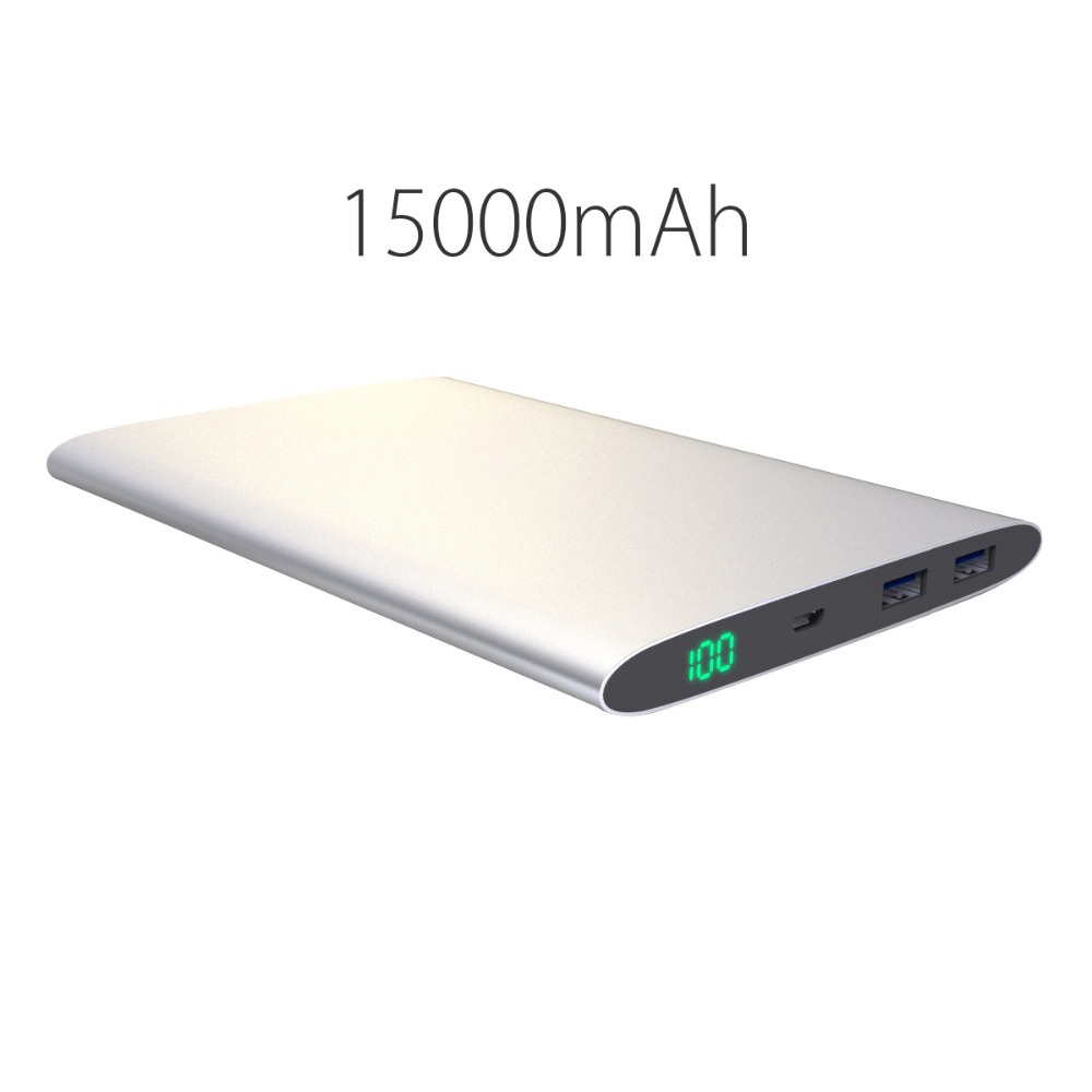 Ultra Slim 20000mAh 15000mAh 12000mmah Power Bank Dual USB